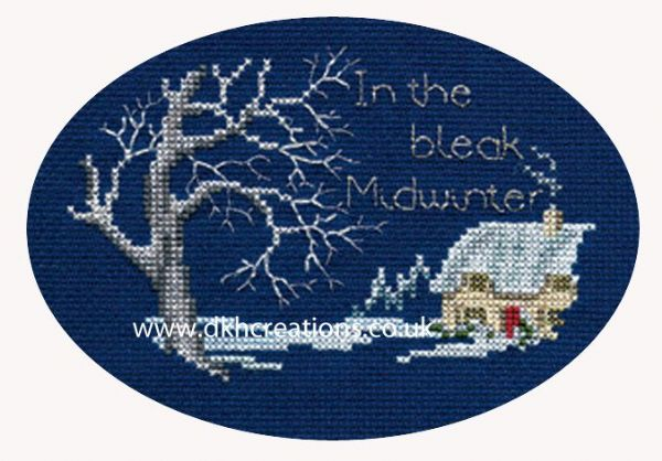Midwinter Christmas Card Cross Stitch Kit